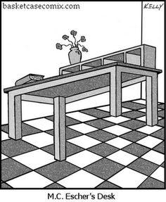 MC Escher found on Art, Paper, Scissors, Glue! Escher Kunst, Escher Art, Mc Escher, Art Optical, Optical Illusions, Op Art, Art Jokes, Deco Originale, Dutch Artists
