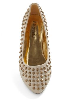 Love the studs on a nude color