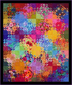 Robin Atkins, Shimmer quilt, before quilting