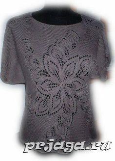 çiçek  Several other interesting lace sweaters on the Russian page