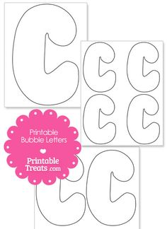 Printable Bubble Letter C Template from PrintableTreats.com