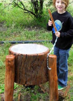 Outdoor thunder drum