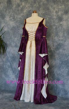 Medieval Gown, Elvish Wedding Gown, Handfasting Dress, Renaissance Gown…
