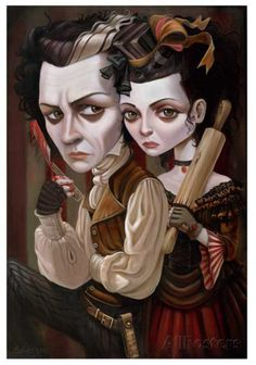 Meat Pies Prints by Leslie Ditto at AllPosters.com Oh my talented Tim Burton....another of my favorite artists