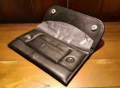 Deluxe Nappa Leather Tobacco Pouch Fully Lined Black Wallet & Paper Slot Feeder in Collectables, Tobacciana/ Smoking, Tobacco Tins | eBay