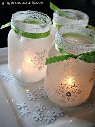 candles in jars christmas -