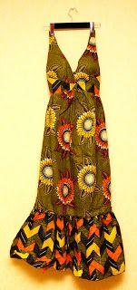 création robe wax femme