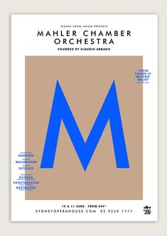 Beautiful poster design! ✖ Mahler Chamber Orchestra on Behance