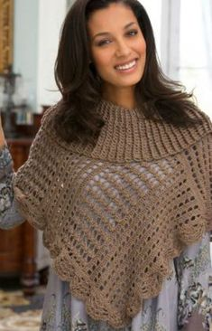 Toasty Poncho - Free Crochet Pattern