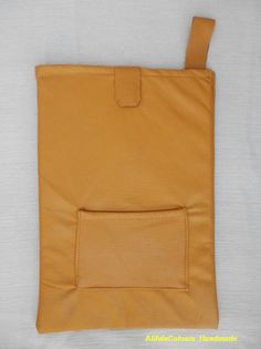 item no218 Leather ocher colour tablet case for by ALIFEINCOLOURS, $45.00