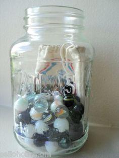 vintage toy marble collection imperial mason glass atlas jar retro home decor