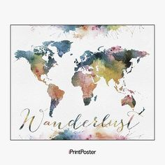 Trademark fine art michael tompsett urban watercolor world map trademark fine art michael tompsett urban watercolor world map canvas art h o m e 3 pinterest wall dcor and walls gumiabroncs