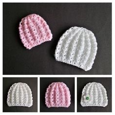 Free knitting and crochet patterns. I am a popular independent designer. Free knitting and crochet patterns. I am a popular independent designer. Baby Hat Knitting Patterns Free, Baby Hat Patterns, Baby Hats Knitting, Crochet Baby Hats, Baby Knitting Patterns, Free Knitting, Knitted Hats, Newborn Knit Hat, Hand Made
