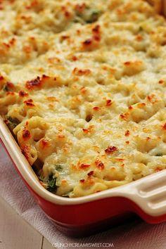 Cheesy Spinach Dip Chicken Pasta Recipe Card