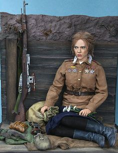 Dioramas and Vignettes: The Camomiles Tilt Shift Photography, Military Action Figures, Military Modelling, Military Girl, Female Soldier, Military Diorama, Red Army, Hollywood Actor, Toy Soldiers