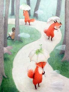 Illustration by Ayano Imai Fox Art, Children's Book Illustration, Whimsical Art, Cute Art, Illustrations Posters, Collages, Childrens Books, Drawings, Artwork