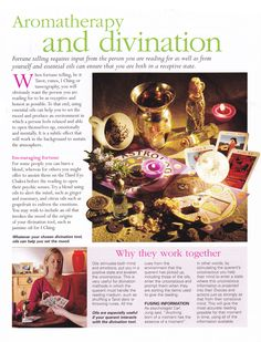 Aromatherapy and divination