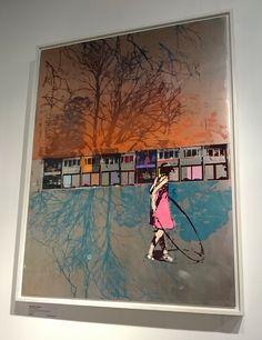 Hula Hoop, Dusk by Dan Parry-Jones at Edinburgh Art Fair Urban Landscape, Abstract Landscape, Landscape Paintings, Watercolor Paintings, Abstract Art, Mixed Media Sculpture, Surfer Magazine, Art Fair, Architecture Art