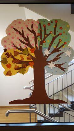 Jahreszeitenbaum gestaltet von und mit Demenzkranken