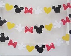 Items similar to 10 ft minnie mouse inspired paper garland banner decorations birthday clubhouse black white red yellow on Etsy Minnie Mouse Theme Party, Red Minnie Mouse, Mickey Mouse Clubhouse Party, Mickey Party, Mouse Parties, Mickey Mouse Playhouse, Mickey Font, Mickey E Minie, Mickey Mouse Birthday