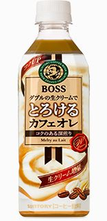 Suntory BOSS Melting cafe ore au lait 500ml Japanese Drinks, Matcha, Product Design, Latte, Beverages, Boss, Food And Drink, Cocktails, Coffee