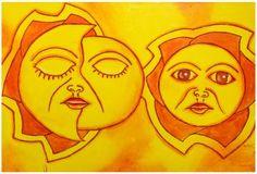Quadro dipinto a mano con tecnica acrilico su tela raffigurante sole ed eclissi. Già montato su telaio in legno. Disponibile anche in altre tonalità di colore. Dimensioni 150 x 100 (approssimazioe 2-4 cm)  http://www.solohechoamano.it/store/quadri/quadri-caraibi-rep-dominicana-haiti/quadro-sole-eclissi.html