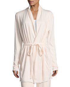 Skin Short Pima Cotton Wrap Robe and Matching Items