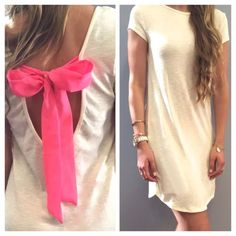 COMING SOON Cute Long T Shirt Dress w/  Back COMING SOON Like to be notified when it arrives. I'm starting a retail section of my closet so stay tuned for more lovely items!  Dresses