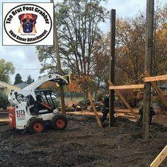 Pole Grabbing in Hayden Idaho   #PoleGrabber #Construction