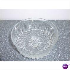 3 Vintage AROCROC Diamond Cut Glass Cereal Bowls on eBid United States