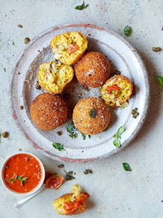 Arancini. We have some small jars of saffron which would be perfect for adding to this recipe. To save time, instead of making the Arrabiata sauce from scratch, why not use our delicous Sugo all'Arrabbiata? As another time saver, you could try any of our risotto mixes. We have three to choose from: Pomodoro, Tartufo, or Boscaiolo. Visit us in-store, go online or call us for more information on any of these products.