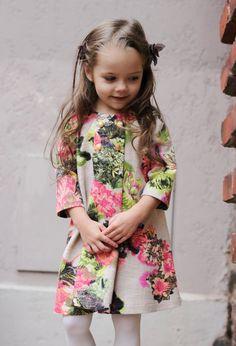 Girls flower dress autumn winter special by Maliposhaclothes