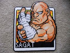 Sagat from Street Fighter perler project. so rad.