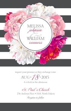 Bold floral wedding invitation vistaprint w e d d i n g floral wedding invitation vistaprint stopboris Images