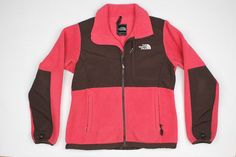 The North Face Pink Brown Full Zip Small Womens Fleece Jacket #TheNorthFace #FleeceJacket