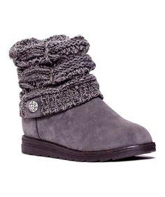 4f73fab736f9 MUK LUKS Gray Patti Cable-Knit Cuff Boot - Women