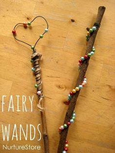 Kids will enjoy getting creative and making their own fairy wand (or wizard wand). The best part is the imaginative play that will come once the wands are complete!