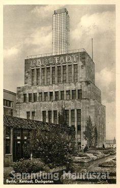 1938:Karstadt am Hermannplatz,Dachgarten