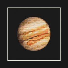 Jupiter Cross Stitch Pattern PDF  Planet Solar by EasyStitchForFun