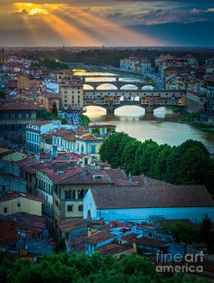 ✯ Sunset from Piazzale Michelangelo in Firenze (Florence), Italy