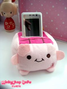 Hannari Tofu Cell Phone Stand Kawaii