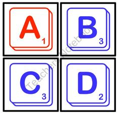 Boggle/Scrabble Game For Bulletin Board from Pioneer Teacher on TeachersNotebook.com (11 pages)  - Try playing Boggle with these Scrabble letters. Included are the letters of the alphabet - consonants in blue and vowels in red.