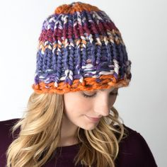 Simple Hat Free Pattern - Made on a Zippy Loom!