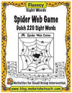 Fun Halloween themed sight word game.  Fun for centers!