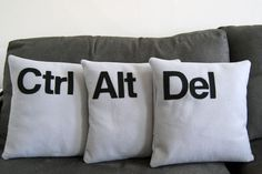 Ctrl-Alt-Del Cushions, When The Computer Furnishes The Living Room