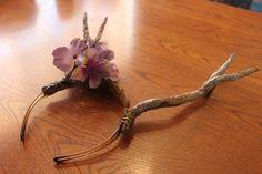 Purple Hydrangea Antler Flower Crown Headband by UnrealForest