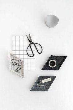 DIY Stone Trinket Dishes (Homey Oh My) #officestyle #desk #stationaryinspiration