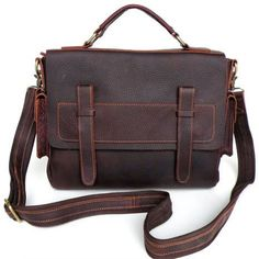 79d34e2cf3 Vintage Handmade Genuine Oil Tanned Leather Briefcase Messenger Laptop Bag  in Old Brownish Red - It fits an or Macbook and some files / books.