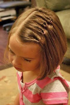 childrens hairstyles for school kids hairstyles for girls kid hairstyles girl easy little girl hairstyles kids hairstyles braids easy hairstyles for school step by step quick hairstyles for school easy hairstyles for girls Easy Hairstyles For Kids, Pretty Hairstyles, Bob Hairstyles, Girly Hairstyles, Teenage Hairstyles, Girls Hairdos, Summer Hairstyles, Little Girl Short Hairstyles, Beautiful Haircuts