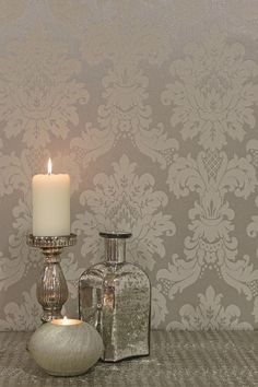 Messina - Silver wallpaper by Arthouse. Exclusive to Guthrie Bowron in New Zealand.